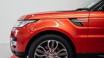 range rover ярко оранжевый пленка