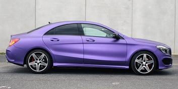 фиолетовый мерседес