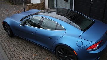 синий матовый хром авто