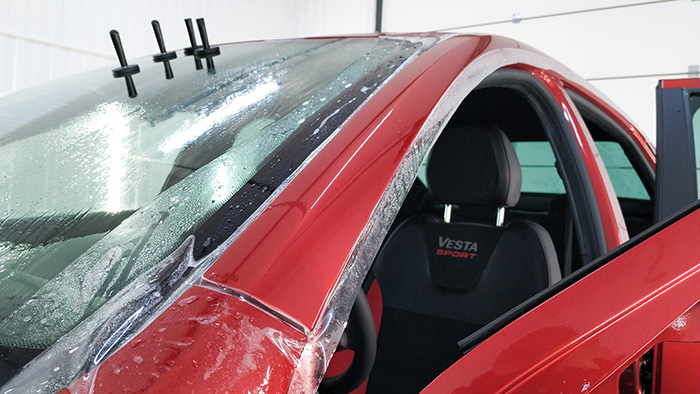 Lada Vesta оклейка пленкой
